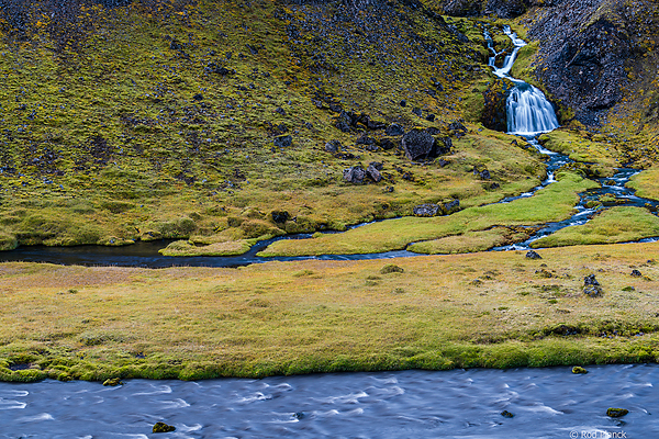 Small foss in the southern highlands of Iceland
