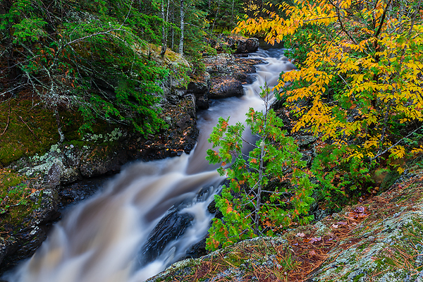 Undisclosed Waterfalls Visited During Ultimate Autumn Forest and Lake Superior Shoreline Tour, Michigan