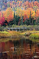 Bridge at Lake of the Clouds, Autumn, Porcupine Mountains Wilderness State Park, Michigan