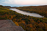 Lake of the Clouds, Evening, October 1, 2005, Porcupine Mountains Wilderness State Park, Michigan