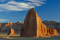 Temple of the Sun and Temple of the Moon, Cathedral Valley, Capitol Reef National Park, Utah